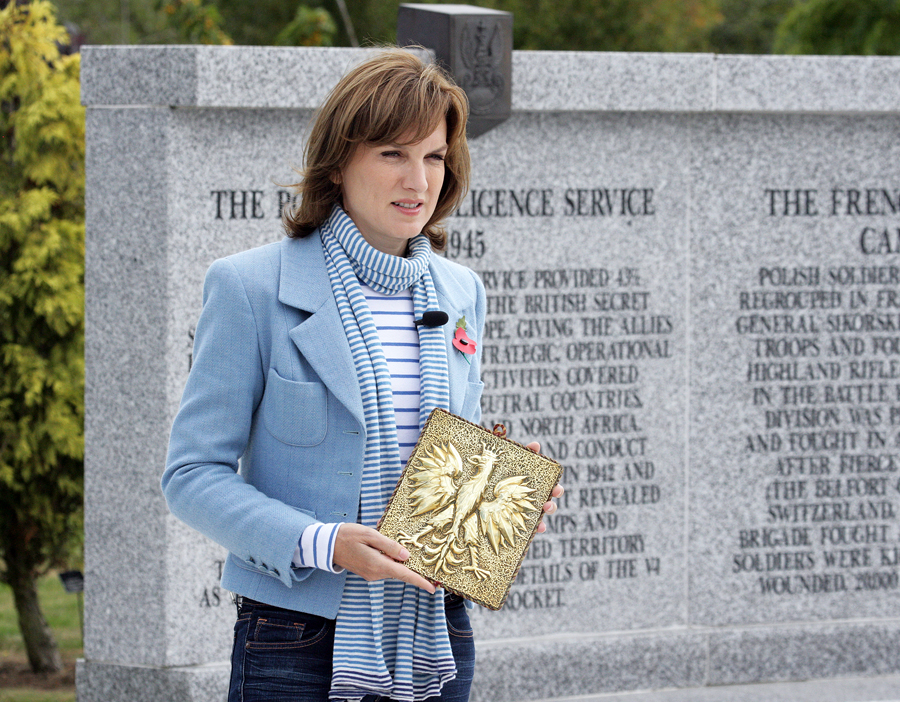 Fiona Bruce at Polish Armed Forces Memorial