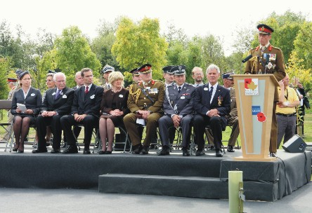 Polish Armed Forces Memorial opening ceremony