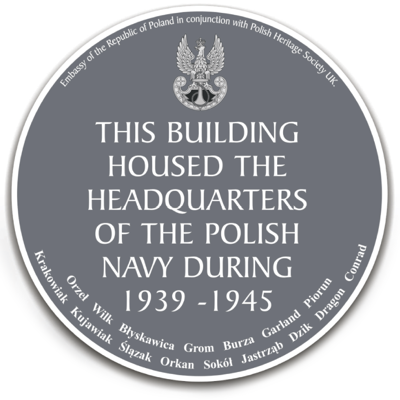 Polish Navy WWII plaque